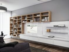 build your own wall unit entertainment furniture Whitewood laminates