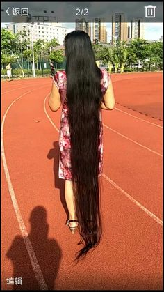 R – Mangku Sasmito - Perm Hair Styles Braids For Long Hair, Wavy Hair, Thick Hair, Permed Hairstyles, Braided Hairstyles, Different Types Of Curls, Air Dry Hair, Long Black Hair, Super Long Hair