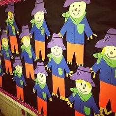 Happy FALL!!!! If you need a cute bulletin board I've got you covered! Check out the scarecrow craftivity in my profile.