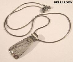 """SILPADA N1592 STERLING SILVER HAMMERED CURVED TIE PENDANT NECKLACE 18"""" RETIRED #Silpada #PENDANT"""