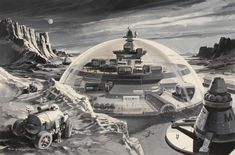 Retro #Futurism by Klaus Bürgle. Waiting for #Fallout4? Subscribe to www.facebook.com/WaitingForFallout4