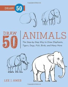 Draw 50 Animals: The Step-by-Step Way to Draw Elephants, Tigers, Dogs, Fish, Birds, and Many More... by Lee J. Ames, http://www.amazon.com/dp/0823085783/ref=cm_sw_r_pi_dp_yOrerb0JFJBRA