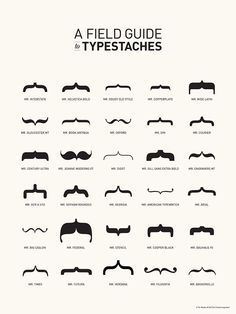 If Fonts Wore Mustaches…