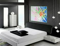 Flower of Sun, Sun of Flower - Original Wall Modern Abstract Art Painting Original mixed media
