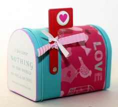 Cute tin mail box for stashing away your love letters or candy. By Kotibeth on Etsy.com!