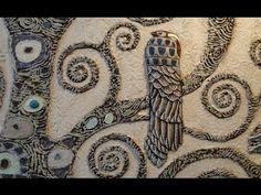 Мастер Класс Барельеф дерева Климта ЧАСТЬ 2(3) Роспись и инкрустация сво...
