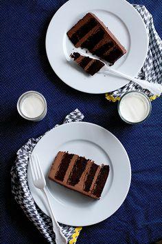 Chocolate Cake with Whipped Ganache