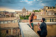 Marriage proposal. Photo Sessions concerning real surprise marriage proposals. Photography session time after the candid reaction there is a romantic sunset walk with the gorgeous background of Rome. Charming Indian couple from London. Romantic sunset walk across Rome for the engagement portraits of this couple.