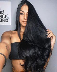 Beautiful Long Hair, Beautiful Women, Long Dark Hair, Super Long Hair, Black Hair, Short Hair Styles, Hair Beauty, Instagram, Hair Images