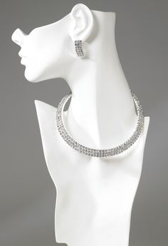 """Jewelry set to go with the dress """"Starlight."""" Diamonds are a girl's best friend."""