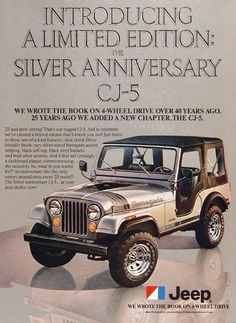 9da047bc083c A full size color 1979 advertisement for the Jeep Renegade. The limited  edition Silver Anniversary -An 1979 Jeep Renegade promotional advertisement  ...
