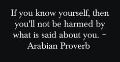 If you know yourself
