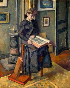 Girl Reading a Book - Charles Guerin  1906