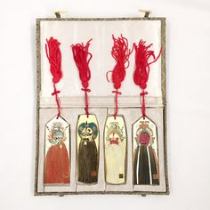 Vintage Oriental Bookmark Set w/ Box