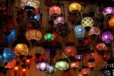 Moroccan Lanterns. These would be fun patio decor.