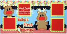 Scrapbook Page Kit Baby's First Christmas by TheScrapbookEmporium, $10.00