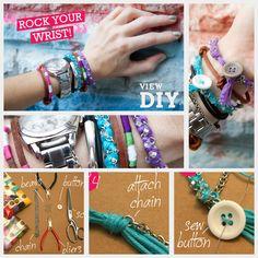 Join the Arm Party!! DIY Bracelets in Bonbons Feature via trinketsinbloom.com!