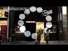 Interactive Window - Interactive Store Front Window for Diesel Project. The materials used at the installation were provided by Glimm Screens and 24-7 Media Technology in cooperation with I-Touch Denmark.