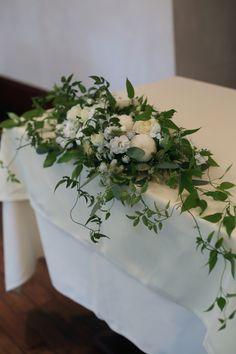 秋の装花 花嫁の誕生の瞬間 シェ松尾青山サロン様へ