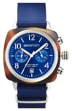 Men's Briston Chronograph NATO Strap Watch, 40mm x