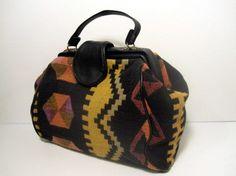 vintage ethnic print carpet handbag $28 creamcoloredpony.etsy