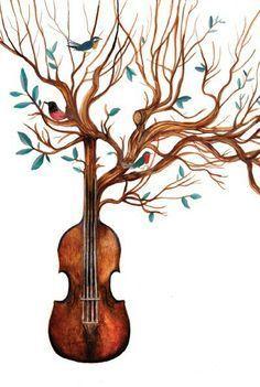 Resultado de imagen para dibujos tumblr de violin