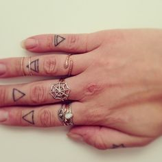 Stacks on stacks. Rings available at www.catbirdnyc.com.