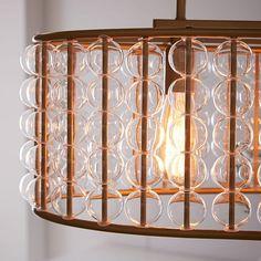 Marney Glass Chandelier - Oval | west elm