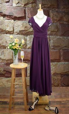 Elegant Fashion Maxi Surplice Chiffon Dress