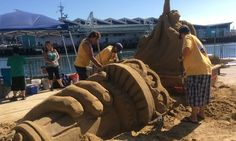 Sand Sculpting Is A Dirty Job (But Somebody's Gotta Do It)