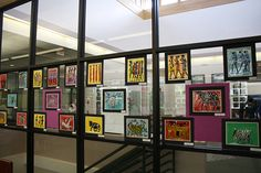 Our students are so creative, that we had to put artwork on the windows!