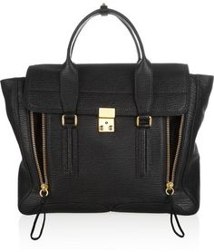 3.1 Phillip Lim The Pashli large shark-effect leather trapeze bag on shopstyle.com