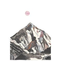 K2 mountain art illustration A3 Print 11.69 in x by ChrisHagan
