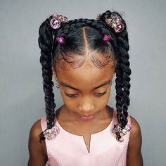 Some new 30 min hairstyle inspiration for the mommys who can not cornrow! I got … Some new 30 min hairstyle inspiration for the mommys who can not cornrow! I got ya! 💪🏾 Janelle looks sooooo extremely cute with this style! Easy Little Girl Hairstyles, Black Kids Hairstyles, Baby Girl Hairstyles, Natural Hairstyles For Kids, Kids Braided Hairstyles, Natural Hair Styles Kids, Party Hairstyles, Young Girls Hairstyles, Evening Hairstyles