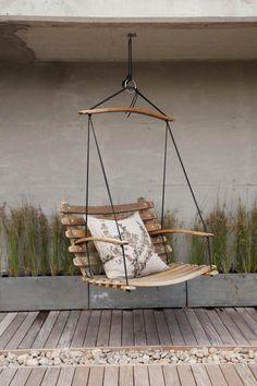 Rocking chair # rocking chair- Schaukelstuhl Rocking chair Check more at garden dinner … - Hammock Chair, Swinging Chair, Diy Chair, Chair Swing, Rocking Chair, Backyard Hammock, Ikea Chair, Hammock Stand, Backyard Landscaping