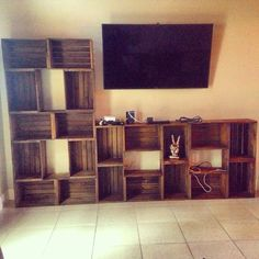 Vintage crate style wall unit on Etsy, $499.99