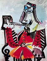Pablo Picasso - Musketeer Smoking, 1969