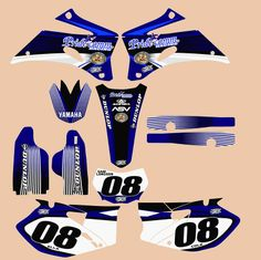 Looking to make your bike stand out? Order custom Motocross graphics or decal from Speed Graphics today. We provide motocross graphic stickers, dirt bike number stickers, cobra graphics and graphics kits for dirt bikes at affordable cost. Bike Stickers, Number Stickers, Motorcycle Decals, Motocross, Yamaha, Honda, Graphics, Kit, Type