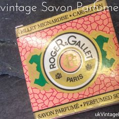 Classic perfumed soap by renowned Roger & Gallet of Paris, France.  Now who would not fall in love with the scent of Parisian French soap?