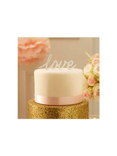 "Cake Topper ""Love"" Plateado"
