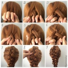 """""""3 Strand Dutch Pancake Braids ❤️ Check out the steps below :- 1.Split hair into 3 section 2.Cross middle section on the left section 3.Cross the middle…"""""""