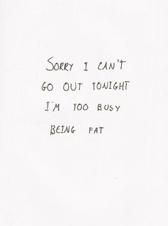 I cannot even count the opportunities I have missed because of my eating disorder.