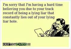 Narcissists and their habitual lying.