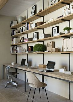 small space living - love all these shelves!