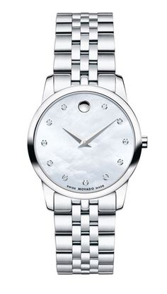 164c9fb0abe Movado Museum Classic 0606612 Women s Mother-of-Pearl Stainless Steel Watch  Stainless Steel Bracelet