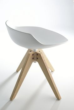 SWIVEL STOOL ON TRESTLE BASE FLOW STOOL FLOW COLLECTION BY MDF ITALIA | DESIGN JEAN-MARIE MASSAUD