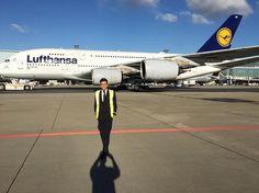 From @nykls The superjumbo passing by   MYWORK  _______________________________________________________________ #eddf #fra #fraport #frankfurtairport #apron #aviation #aviationdaily #avgeek #planeporn #aircraft #lufthansa #a380 #flying #instacrew #aircrews #charmingcrew #jumpseatcrew #lufthansacrew #cabincrew #flightattendant #igers #uniform #instagay #gayguys #cabincrewgirls #airline #instapic #airport #stewardess #crewiser airplane flightcrew layover pilot crewlife airhostess travel…