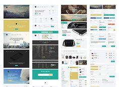 4Edge Web UI Kit Free PSD