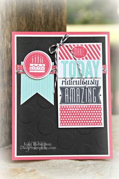 Stampin' Up! Amazing Birthday from Joan Robertson www.DailyStampede.com