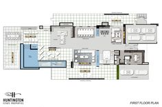 1475 Bel Air Road – Huntington Estate Properties Dream Home Design, House Design, Bel Air Road, Island With Seating, Rooftop Deck, Modern Luxury, Master Suite, House Plans, New Homes